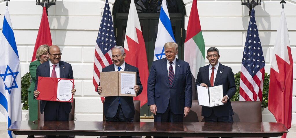President Trump participates in an Abraham Accords signing ceremony